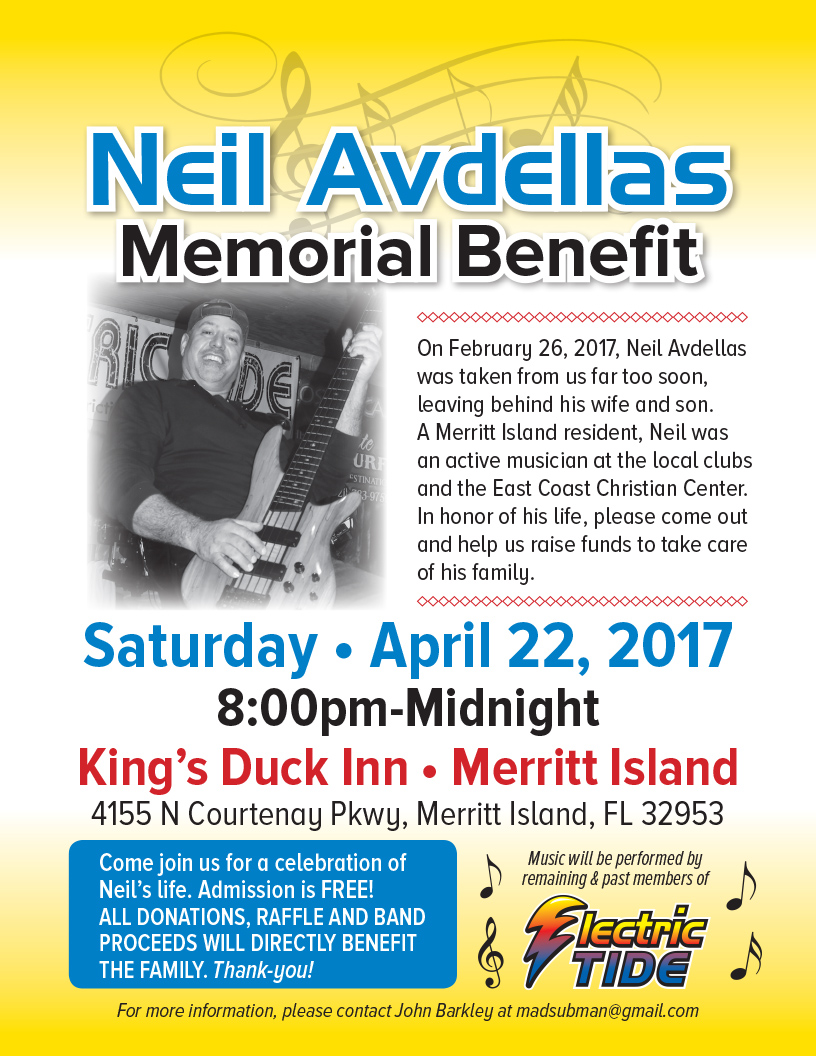 Neil Avdellas Memorial Benefit Concert